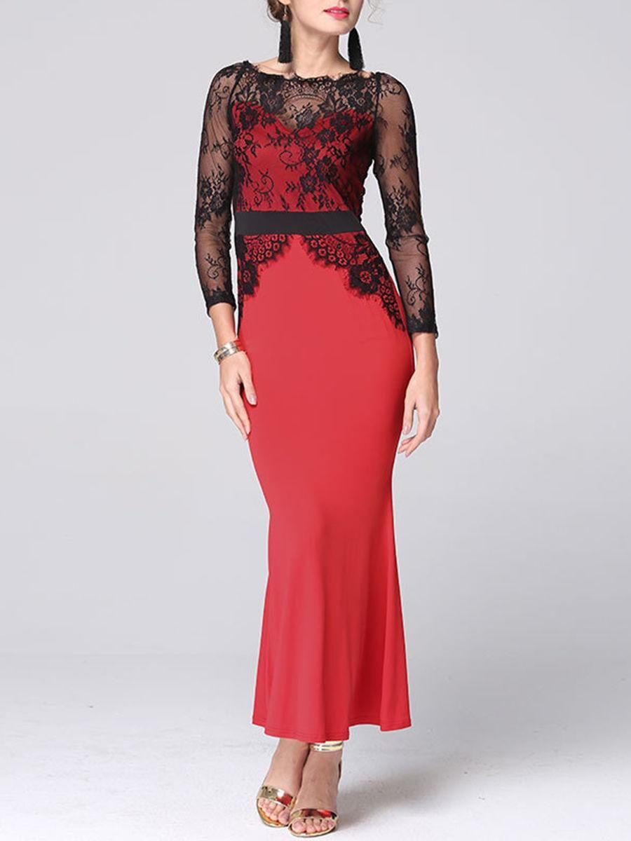 Fashionmia fashionmia off shoulder patchwork color block lace