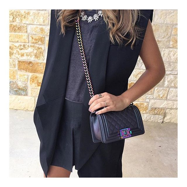 100f782b Iridescent Chanel Le Boy Bag, street style | Chanel | New chanel ...