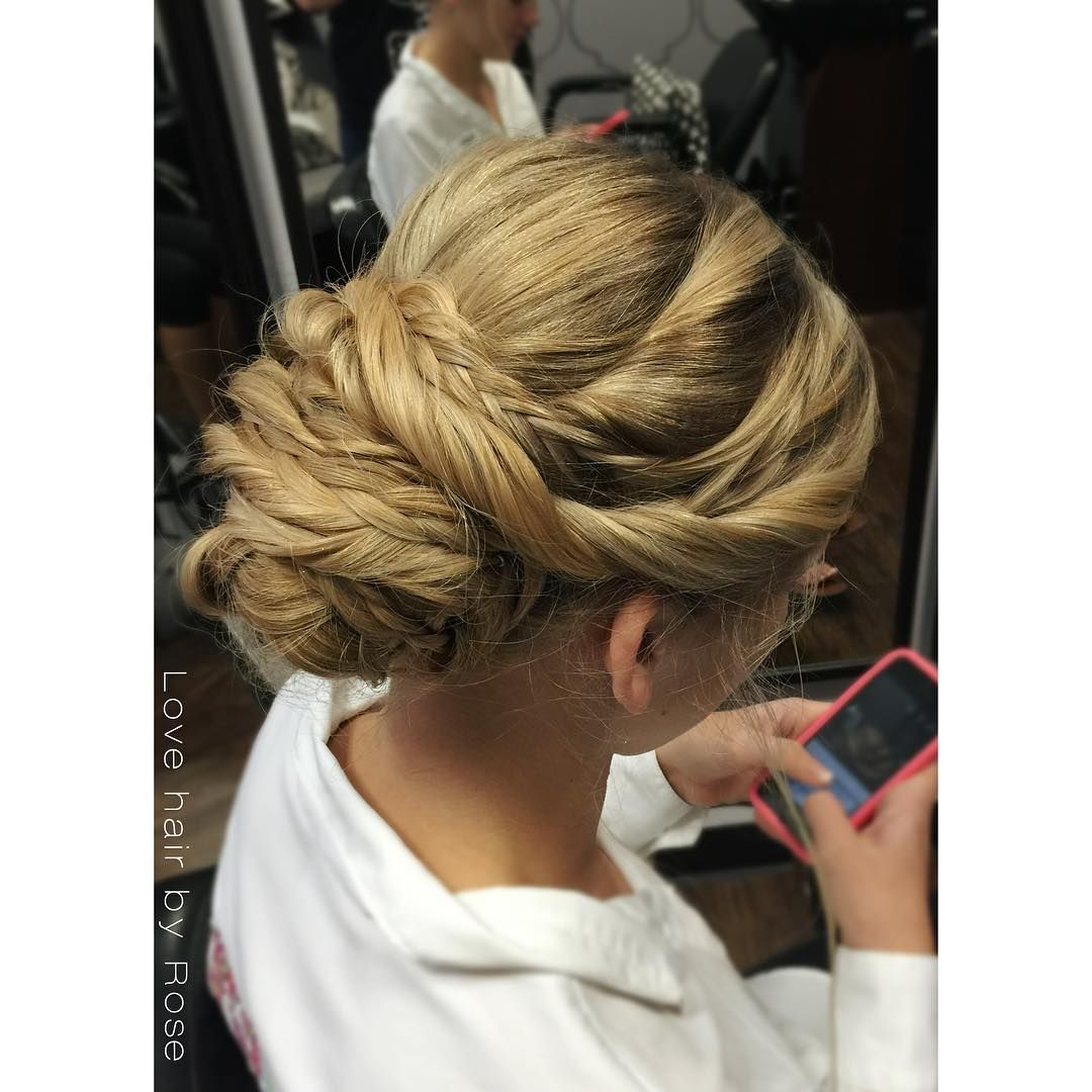 Upstyle For Long Thick Hair Updo Hairstyling Blonde Blondehair