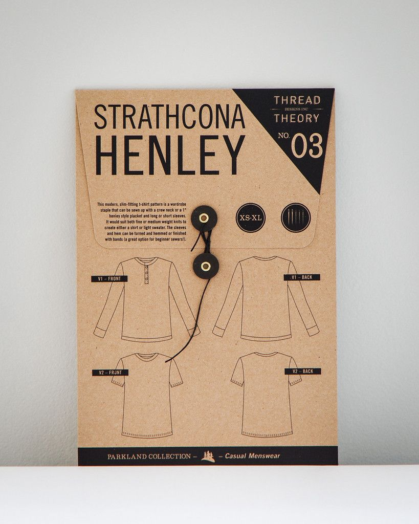 03 - Strathcona Henley - An easy to sew shirt that's comfortable and warm! Menswear