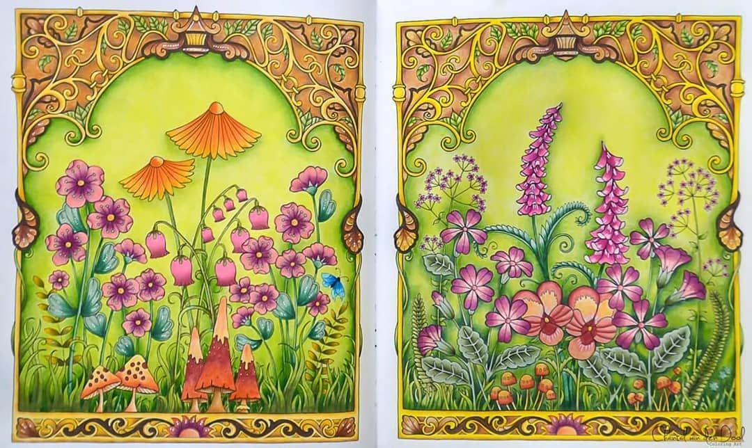 Both pages Finished 🌻🌺🌸🌹 johannabasford