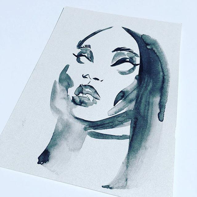 #original Art For Sale. #blackgirlmagic #pinup #girl