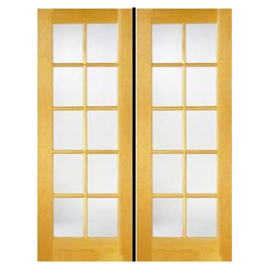 Shop Reliabilt 48 X 80 10 Lite French Solid Core Pine Reversible Interior French Door At Lowes Com French Doors Interior French Doors Exterior Patio Doors
