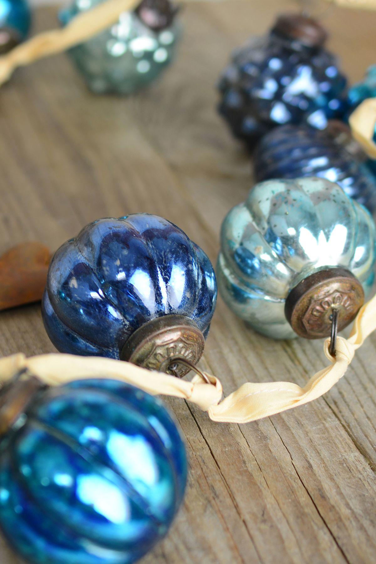 72 Mercury Glass Ball Garland#Christmas Ornaments#