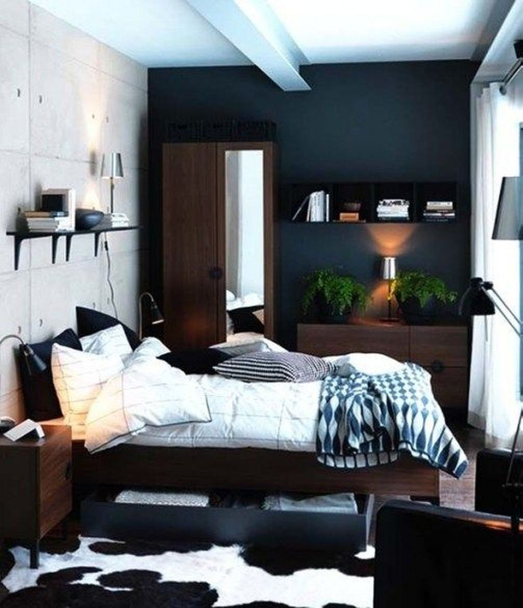 Cozy Single Bedroom Design Ideas For Men 19 Small Bedroom