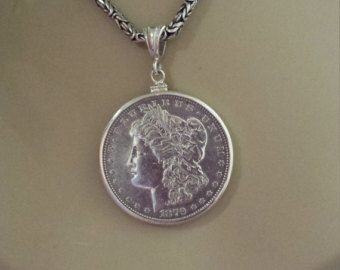 Silver Dollar Pendant Options by jessiedriscoll on Etsy