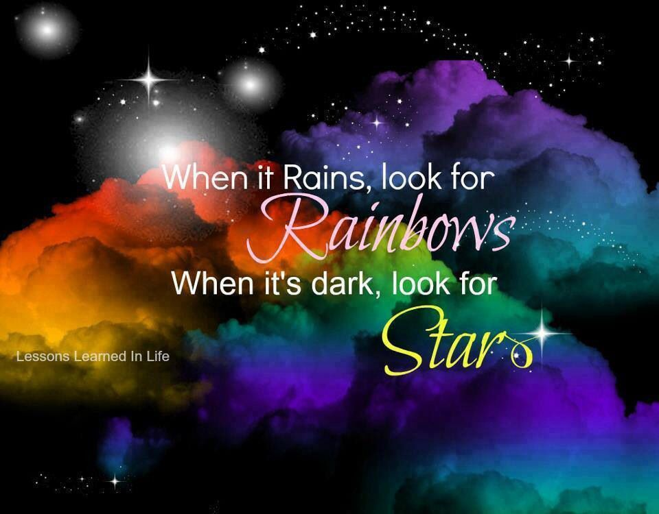 I Saw One The Biggest Rainbows Today Admidst All The Difficult Times My Family And Myself Have Been Facing Latel Storm Quotes Rainbow Quote Rainbow Baby Quotes