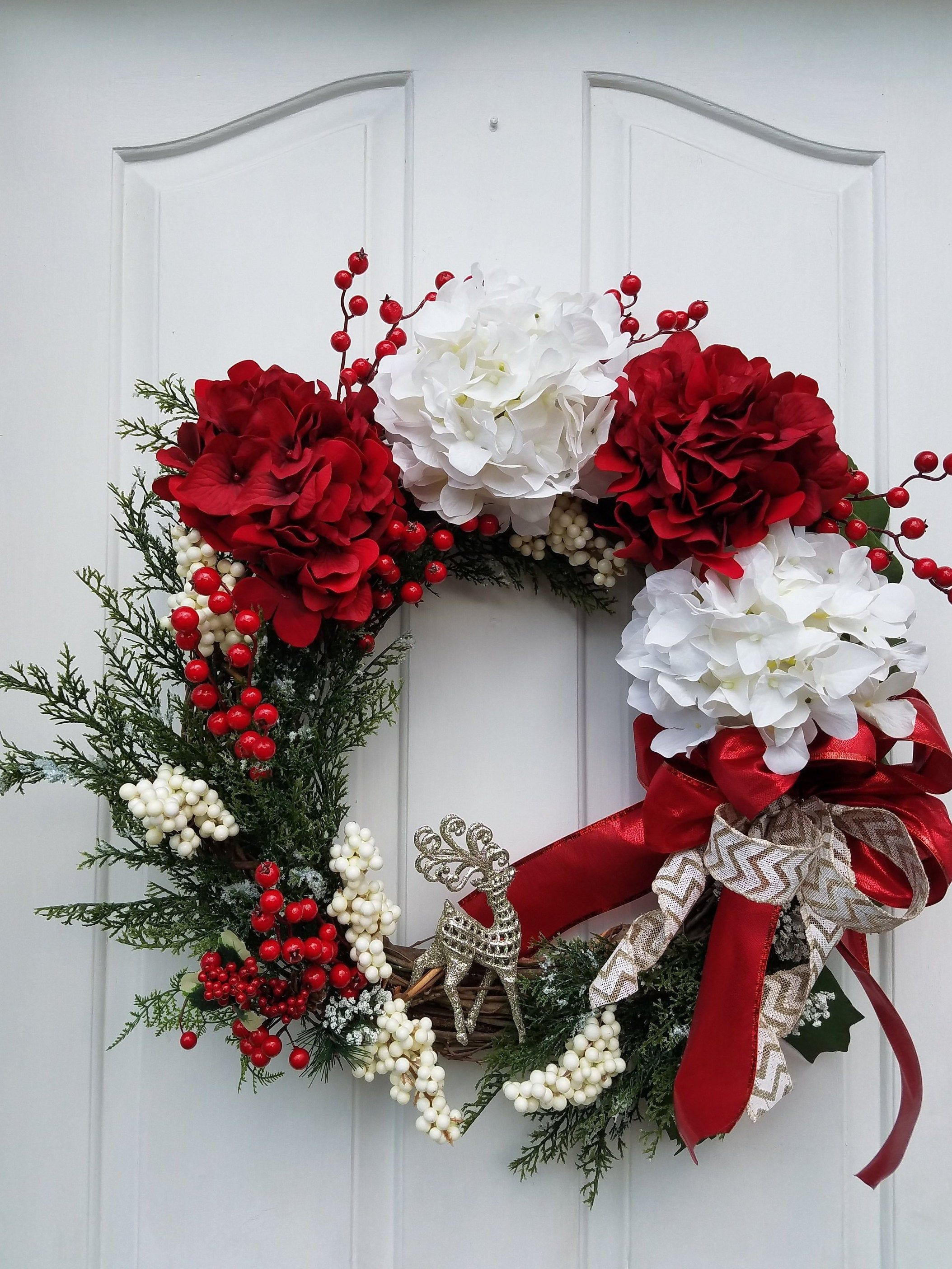Winter Wreath for Front Door, All Season Wreath, Family