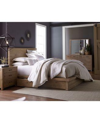 Bedroom Furniture Queen Storage Bed abilene storage platform bedroom furniture, 3-pc. bedroom set
