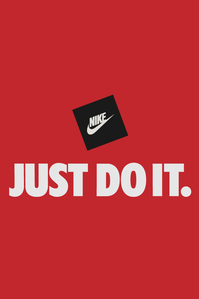 Just Do It Red Logo Nike Logo Wallpapers Nike Wallpaper Nike Quotes