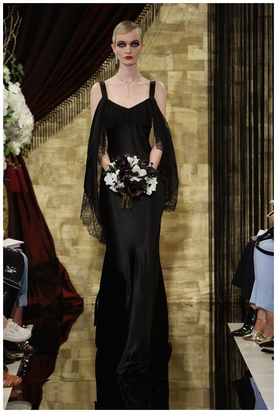 Red and black wedding dress  Wedding dress from the Theia Fall  Bridal collection  Bridal