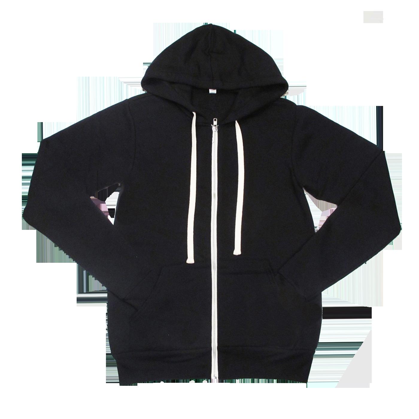 Black Unisex Tri Blend Zip Up