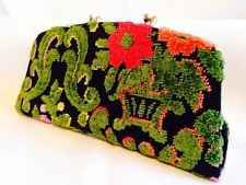 VTG Tapestry Rectangular Wallet Purse Never Used Double Change Snap Fold Down