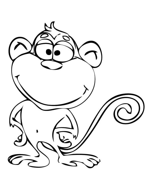Monkey Coloring Pages Coloring Pages Monkey Coloring Page