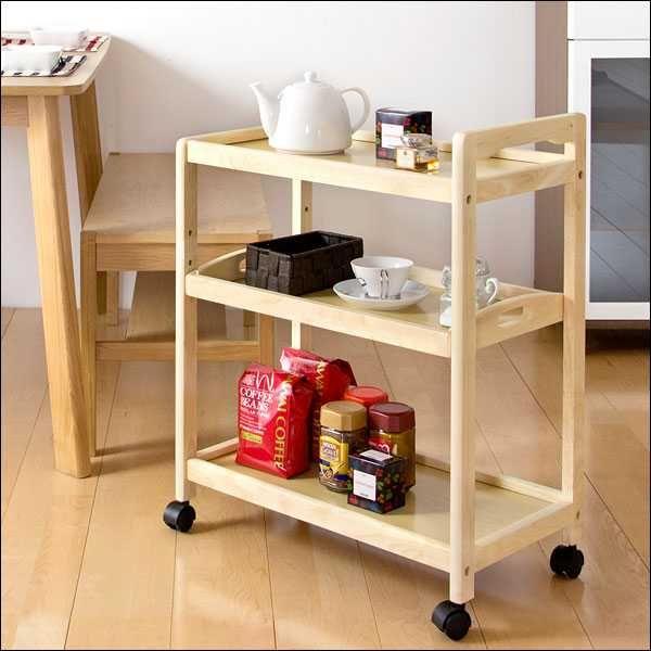 キッチン収納 送料無料 高品質 可動棚 トレー付き 天然木 キッチン