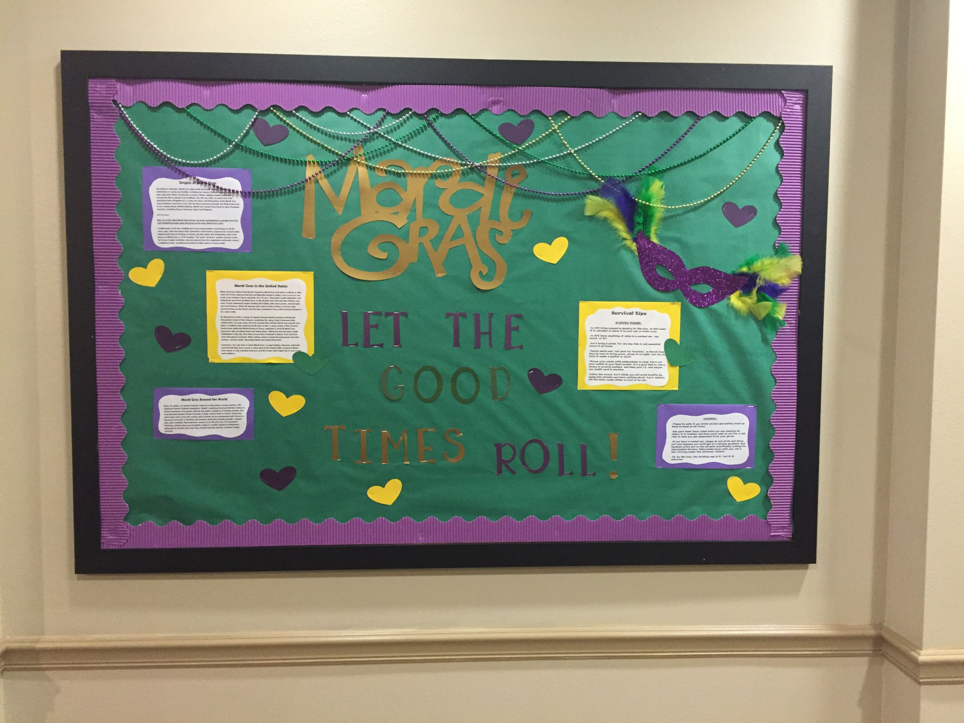 Ra College Bulletin Board Mardi Gras Let The Good Times