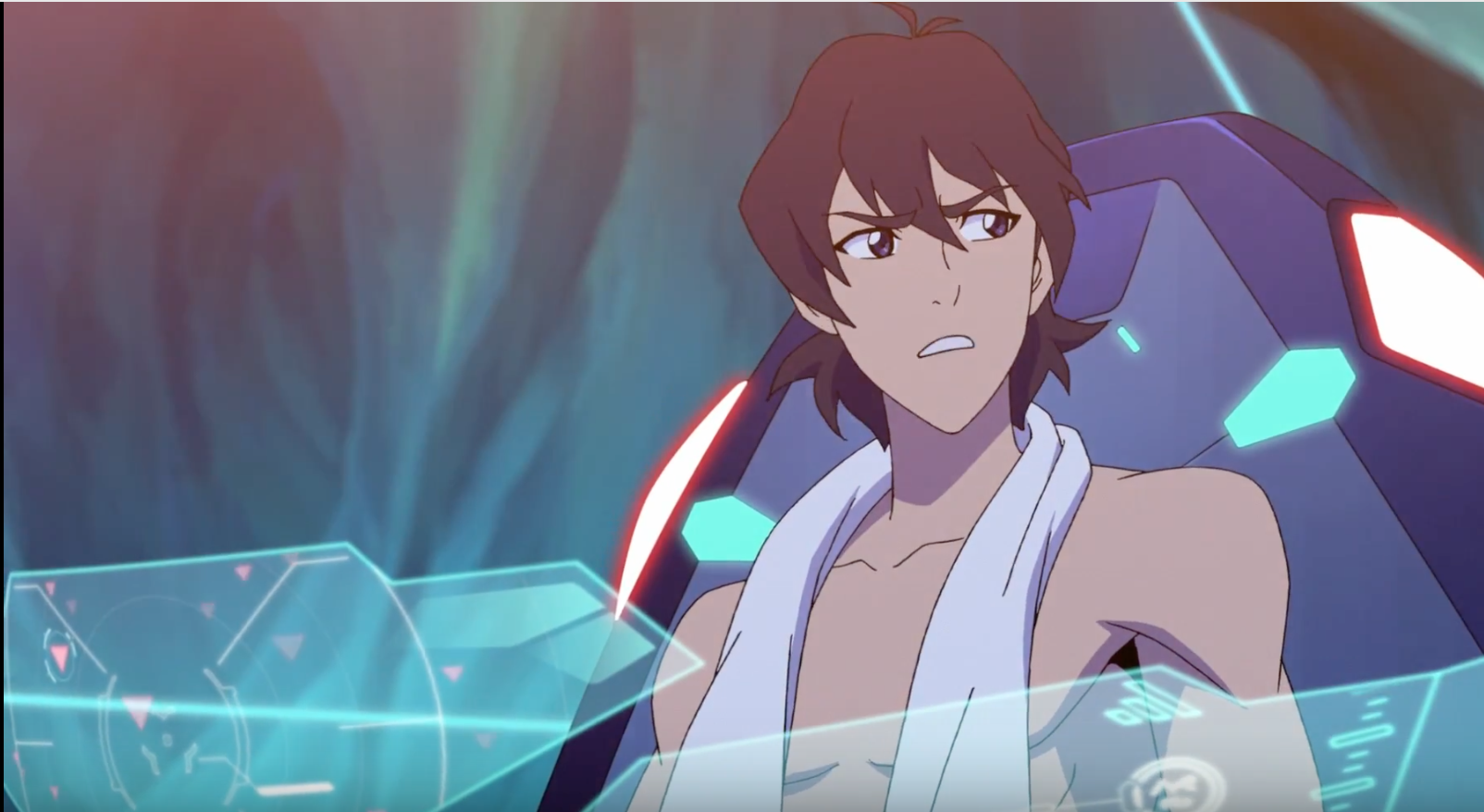 Keith shirtless from Voltron Legendary Defender season 2