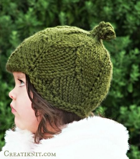 The Leaf Hat Knitting Pattern | Gorros, Dos agujas y Para niños