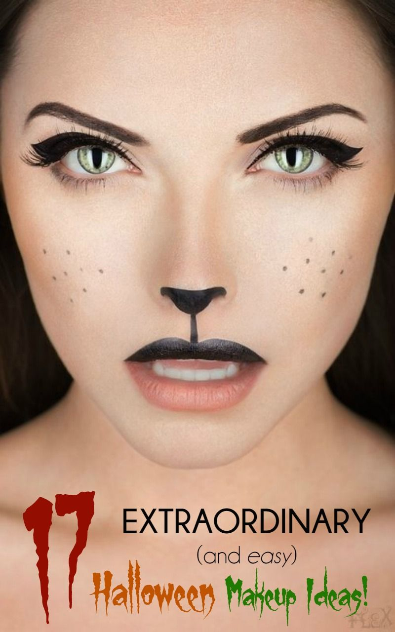 17 extraordinary and easy halloween makeup ideas easy. Black Bedroom Furniture Sets. Home Design Ideas