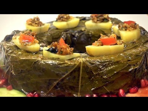 Grape Leaves Cake كيكة ورق العنب دولمة بالقالب محشي بالزيت Middle Eastern Food Desserts Middle Eastern Recipes Food