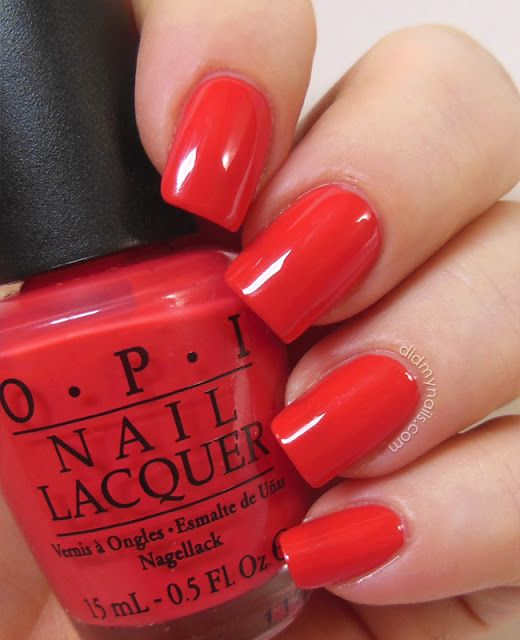 OPI Cajun Shrimp Gel/ Nail Polish! This Orangey-red Coral