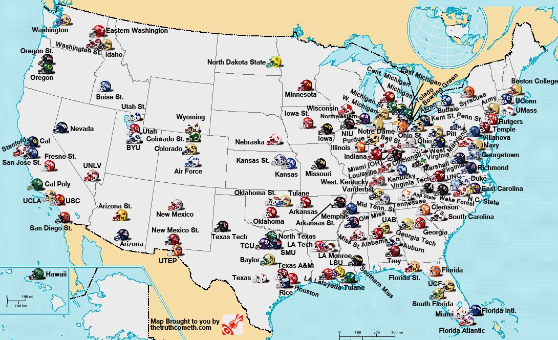 College Football Playoff College Football Fan Map College