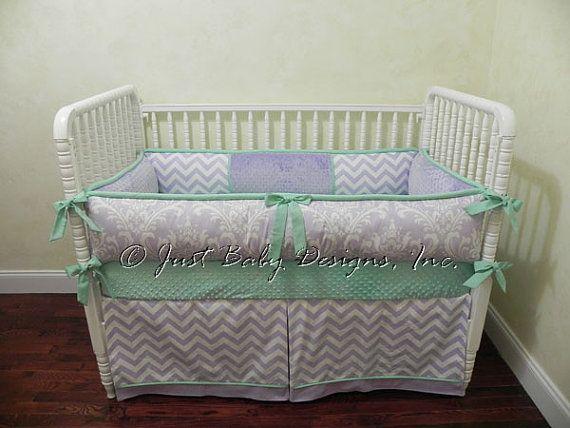 Custom Baby Crib Bedding Set Patty Baby Girl by BabyBeddingbyJBD
