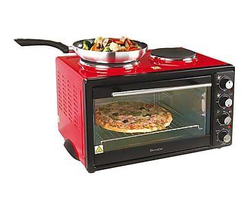 Mini horno con placas eléctricas