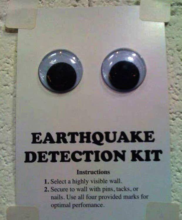 Earthquake detection kits: