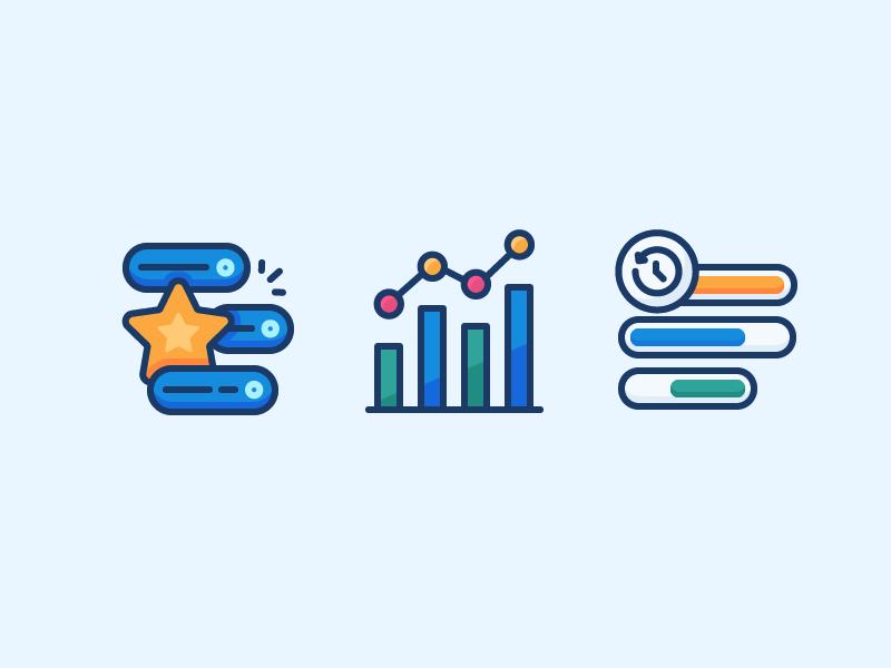 Analytics Icons Icon Design Icon Star Illustration