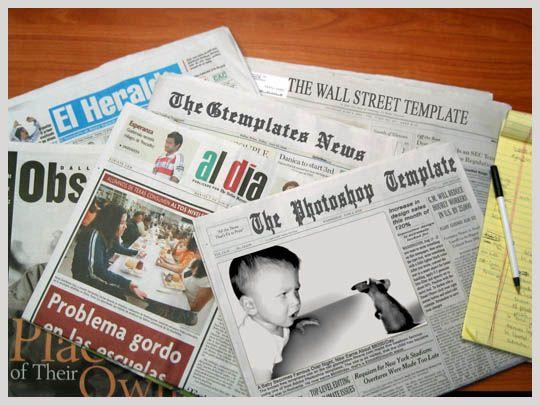 Free Newspaper template Graphic Design Inspiration Pinterest - online newspaper template