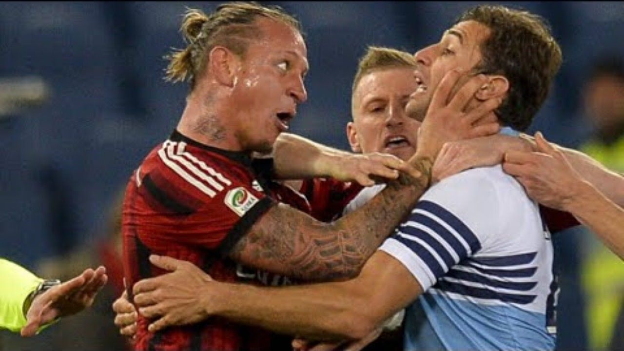 Craziest Football Fights Fouls Brutal Tackle Knockouts Red Cards Hd Football Fight Celebrities Funny Sports Fights