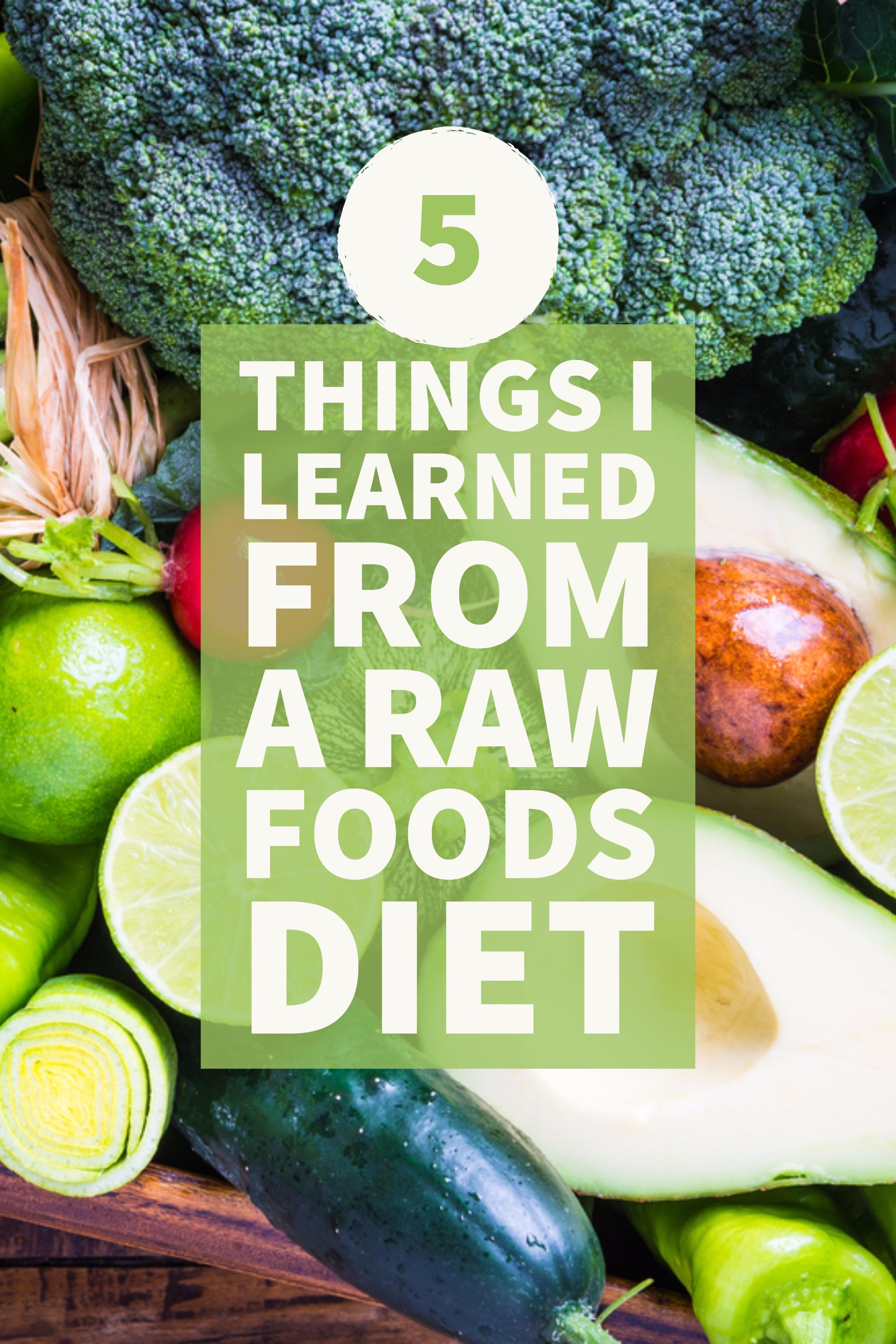 excersize on raw food diet