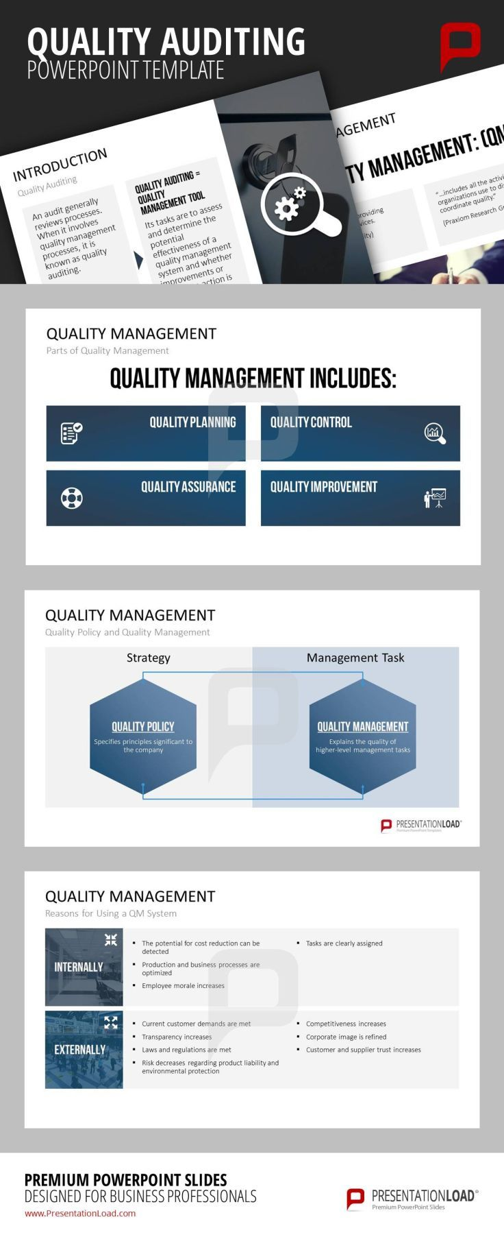 Presentation Template For Displaying The Quality Auditing