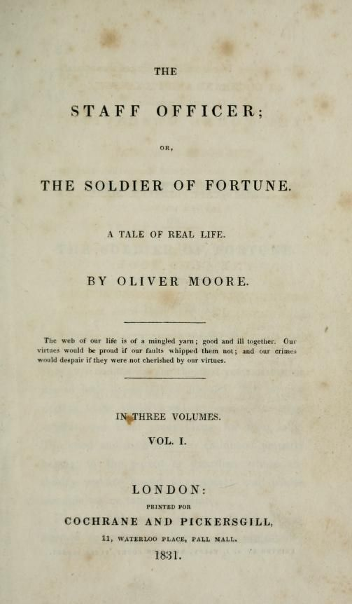 The staff officer : or, the soldier of fortune ...
