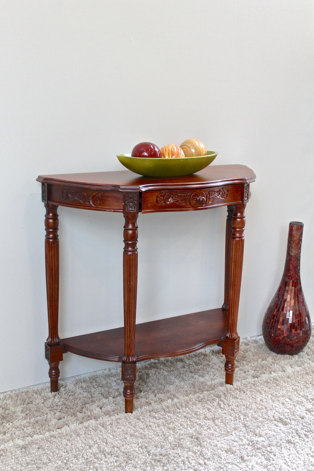 Awesome Half Moon Entry Table
