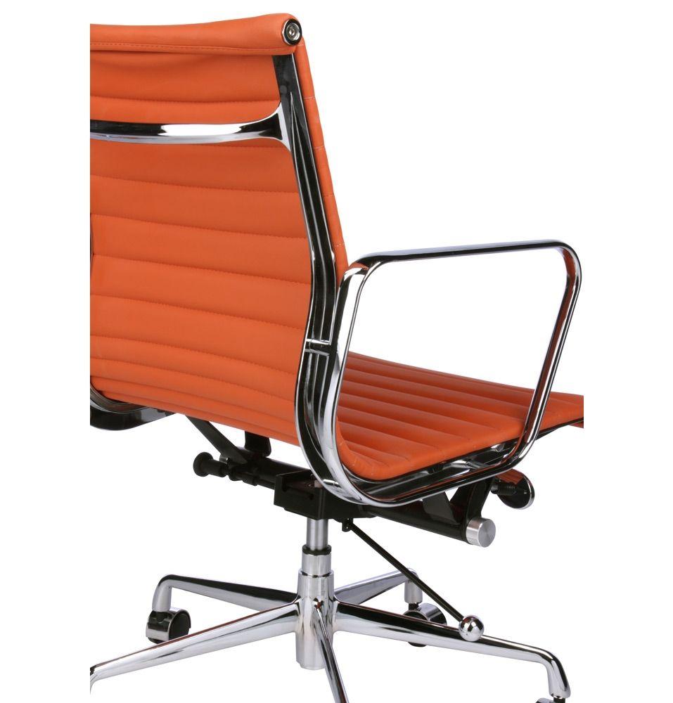 Matt blatt replica eames group aluminium chair orange pvc