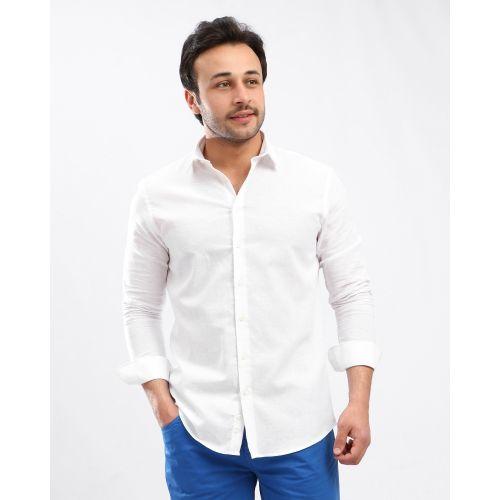 تسوق Premoda Solid Long Sleeves Buttoned Shirt White جوميا مصر Shirts Shirts White Button Shirt