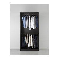 IKEA - PAX, Garderobeskap, hengsler med dørdemper, 100x60x201 cm, , 10 års garanti. Les om vilkårene i garantiheftet.I PAX-planleggeren kan du enkelt tilpasse denne ferdige PAX/KOMPLEMENT-kombinasjonen etter behov og smak.Hengsler med integrerte dempere sørger for at dørene lukkes langsomt, stille og mykt.Hvis du vil organisere innsiden, kan du supplere med innredning fra KOMPLEMENT-serien.Justerbare føtter gjør det mulig å kompensere for eventuelle ujevnheter i gulvet.