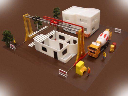 5 Amazing 3D Printed Objects A #3D printed home! architecture - jeux de construction de maison en 3d