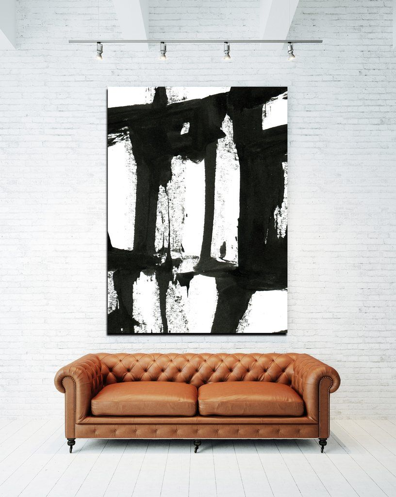 Large Black And White Abstract Modern Farmhouse Wall Art Industrial Farmhouse Black And White Canv White Canvas Art Farmhouse Wall Art Black And White Canvas