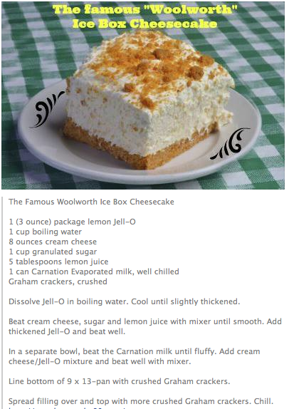 Woolworth S Famous Ice Box Cheesecake Pies Dessert