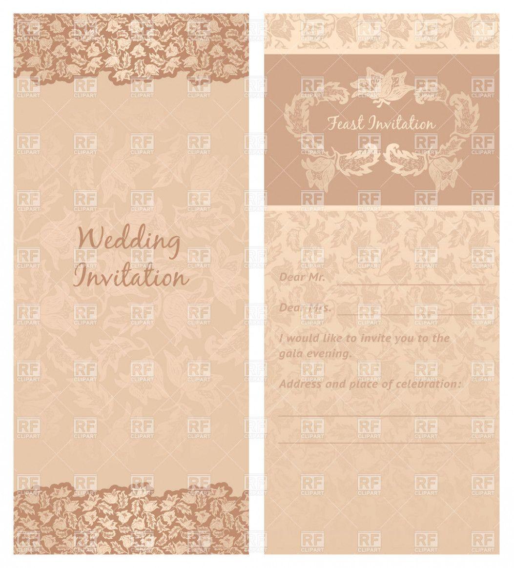 Wedding Card Template Clip Art Wedding Invitation Card