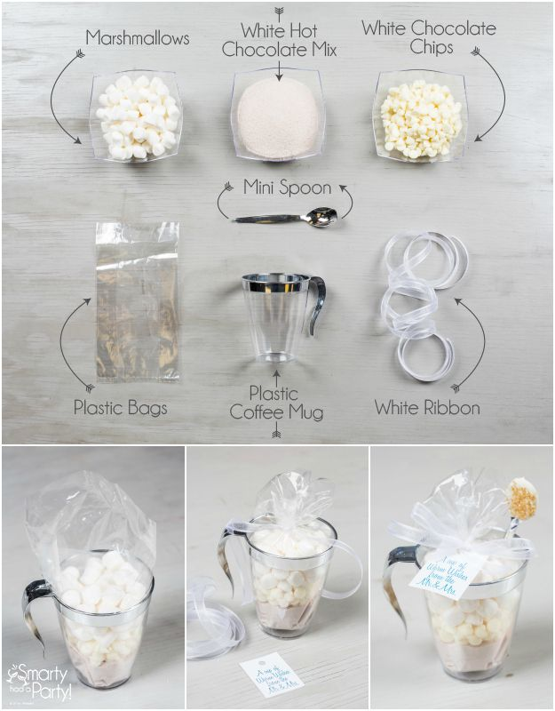 Diy Wedding Favors White Hot Chocolate Kits