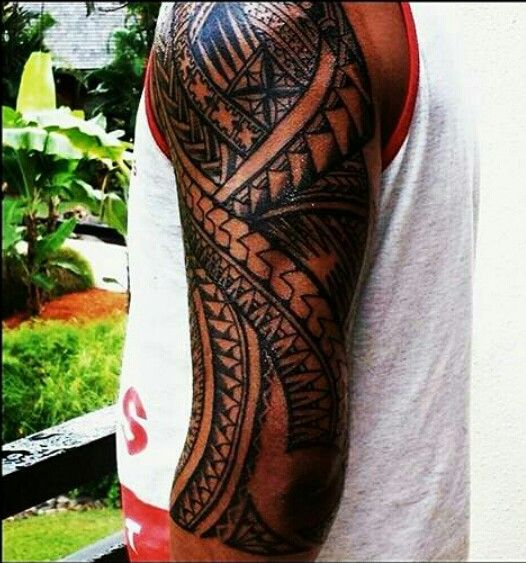 fijian sleeve polynesian tribal tattoos pinterest marquesan tattoos tattoo and polynesian. Black Bedroom Furniture Sets. Home Design Ideas