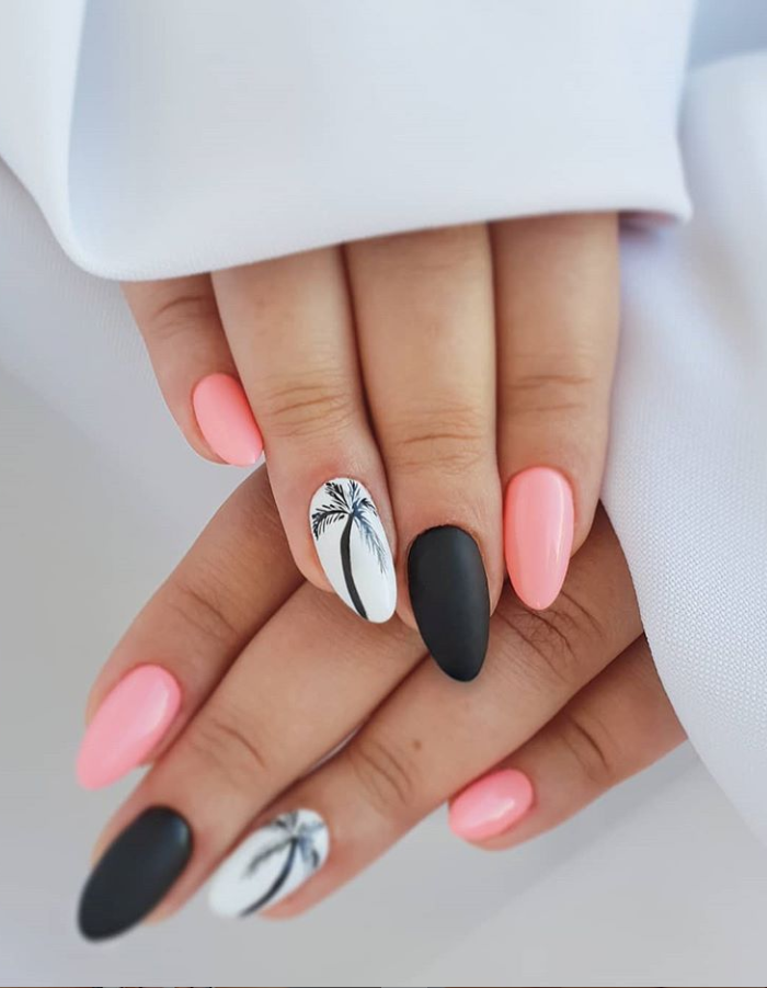 80 Pretty Acrylic Short Almond Nails Design You Can T Resist In Spring Fall Latest Fashion Trends For Woman Almond Nails Designs Short Almond Nails Nail Designs Spring