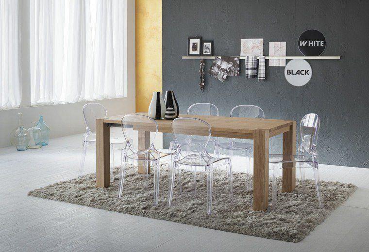 Chaises Transparentes Pour Une Salle A Manger Contemporaine Modern Furniture Living Room Furniture Arrangement Decor
