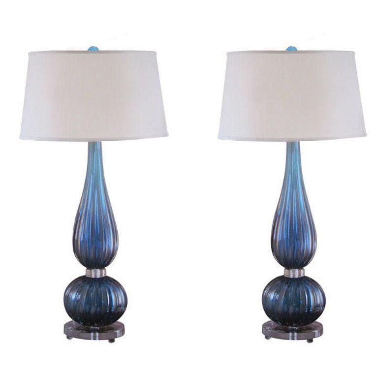 vintage venetian glass table lamps