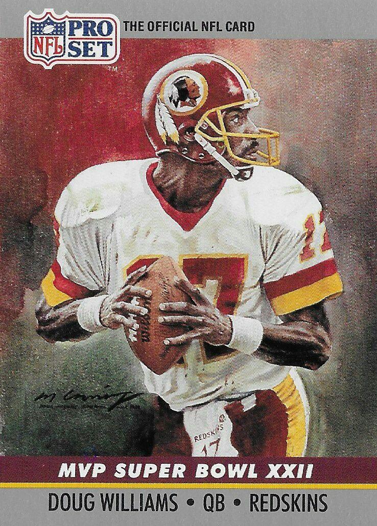 new style 3fd21 ddaf4 1990 Pro Set Super Bowl MVP Doug Williams. | Football Cards ...