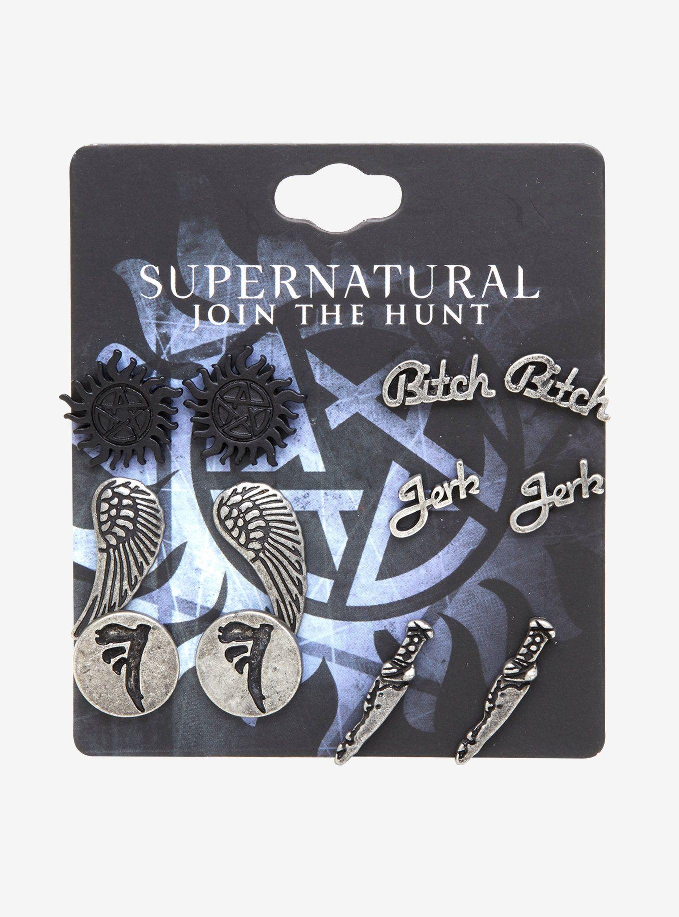 Supernatural Symbol Stud Earring Set Supernatural